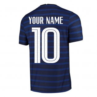 2020-2021 France Home Nike Vapor Match Shirt (Your Name)