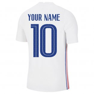 2020-2021 France Away Nike Vapor Match Shirt (Your Name)