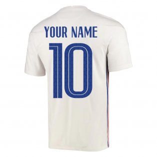 2020-2021 France Away Nike Football Shirt (Your Name)