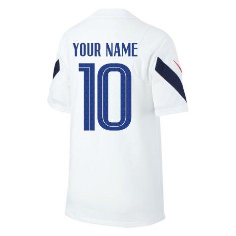 2020-2021 France Nike Training Shirt (White) (Your Name)