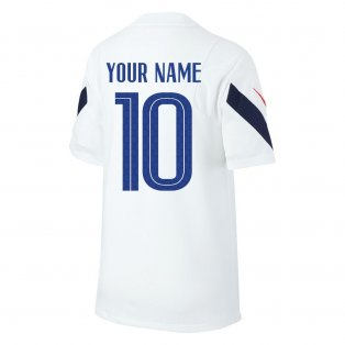 2020-2021 France Nike Training Shirt (White) - Kids (Your Name)