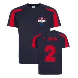 Thiago Silva Paris Sports Training Jersey (Navy)