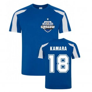 Glen Kamara Rangers Sports Training Jersey (Blue)