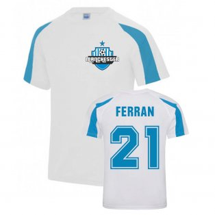 Ferran Torres Man City Sports Training Jersey (White)