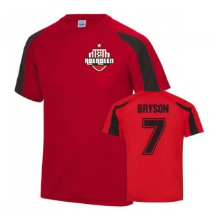 Craig Bryson Aberdeen Sports Training Jersey (Red)