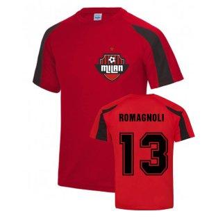 Alessio Romagnoli Milan Sport Training Jersey (Red)