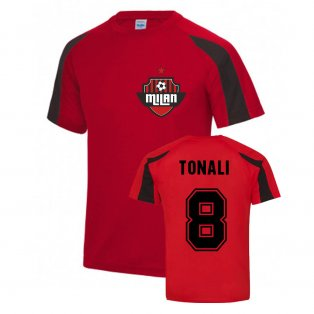 Sandro Tonali Milan Sport Training Jersey (Red)
