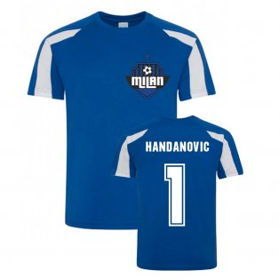 Samir Handanovic Milan Sport Training Jersey (Blue)