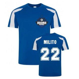 Diego Milito Milan Sport Training Jersey (Blue)