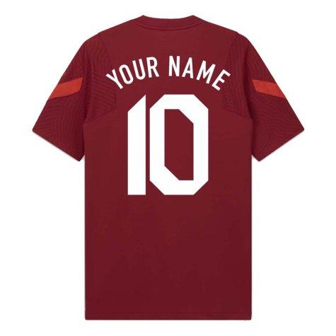 2020-2021 Turkey Nike Training Shirt (Red) (Your Name)