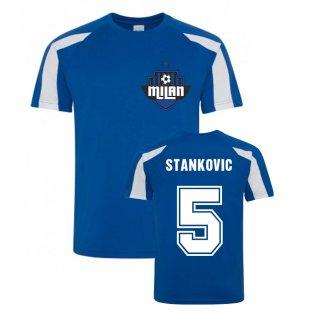 Dejan Stankovic Milan Sport Training Jersey (Blue)