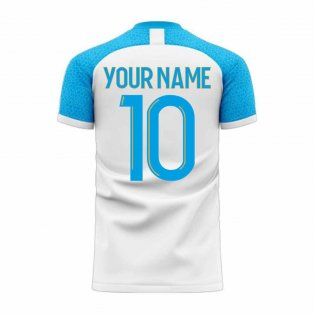 Marseille 2020-2021 Home Concept Football Kit (Libero) (Your Name)