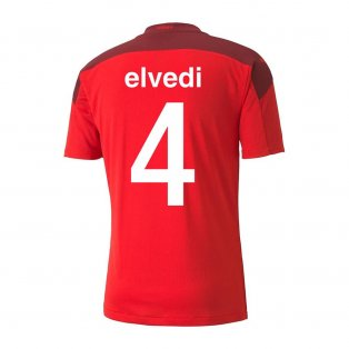 2020-2021 Switzerland Home Puma Football Shirt (ELVEDI 4)