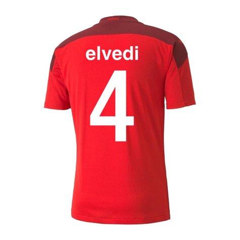 2020-2021 Switzerland Home Puma Football Shirt (ELVEDI 4)