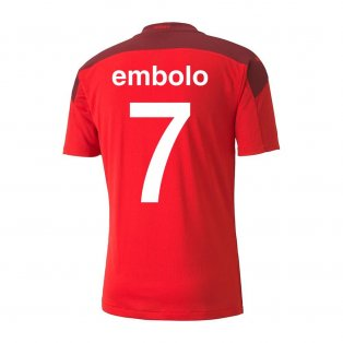 2020-2021 Switzerland Home Puma Football Shirt (EMBOLO 7)