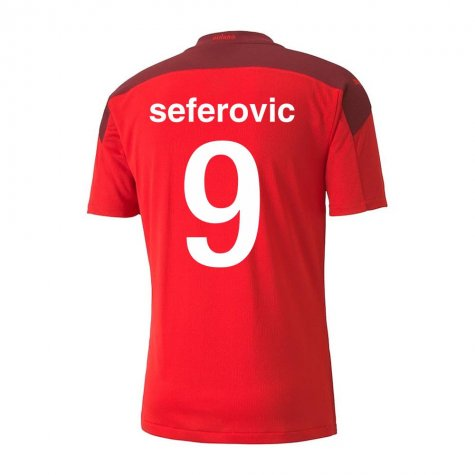 2020-2021 Switzerland Home Puma Football Shirt (SEFEROVIC 9)
