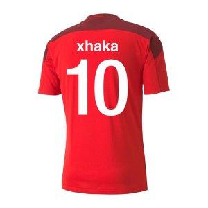 2020-2021 Switzerland Home Puma Football Shirt (XHAKA 10)
