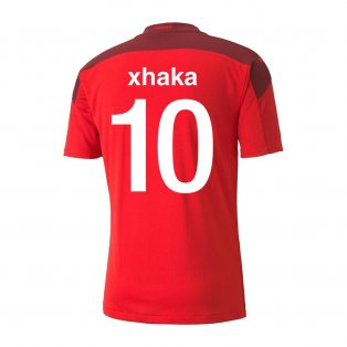 2020-2021 Switzerland Home Puma Football Shirt (XHAKA 10)