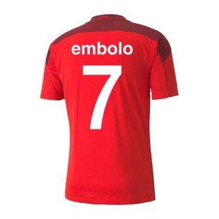 2020-2021 Switzerland Home Puma Football Shirt (Kids) (EMBOLO 7)
