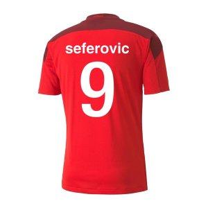 2020-2021 Switzerland Home Puma Football Shirt (Kids) (SEFEROVIC 9)