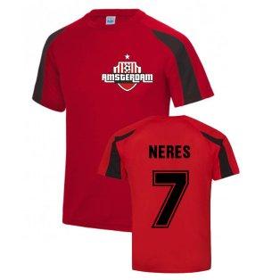 David Neres Ajax Sports Training Jersey (Red)