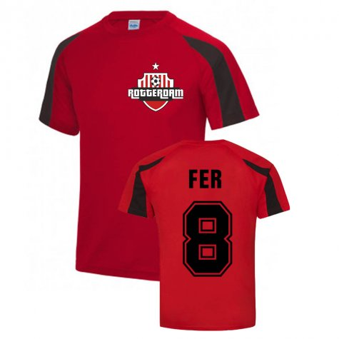 Leroy Fer Feyenoord Sports Training Jersey (Red)