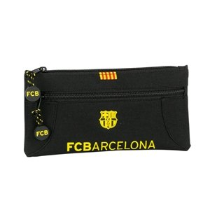 Barcelona Pencil Case With Two Zippers (Black)