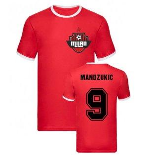 Mario Mandzukic Milan Ringer Tee (Red)