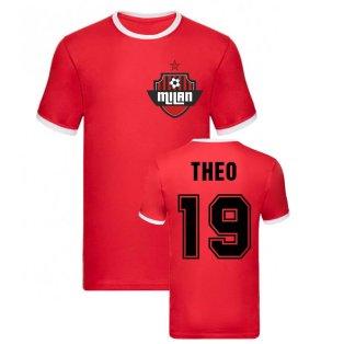 Theo Hernandez Milan Ringer Tee (Red)