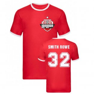 Emile Smith Rowe Arsenal Ringer Tee (Red)