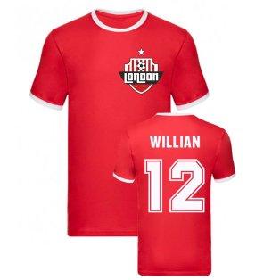 Willian Arsenal Ringer Tee (Red)