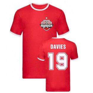 Alphonso Davies Bayern Munich Ringer Tee (Red)