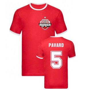 Benjamin Pavard Bayern Munich Ringer Tee (Red)