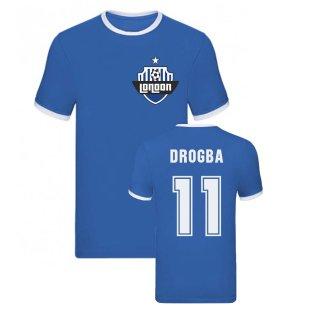 Didier Drogba Ringer TShirt (Blue)