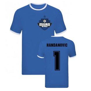 Samir Handanovic Milan Ringer Tee (Blue)