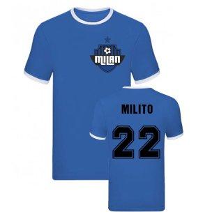 Diego Milito Milan Ringer Tee (Blue)