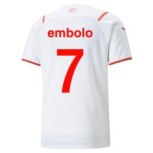 2021-2022 Switerland Away Shirt (Embolo 7)