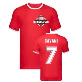 Edinson Cavani Manchester Ringer Tee (Red)