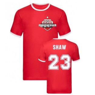 Luke Shaw Manchester Ringer Tee (Red)