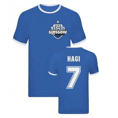 Ianis Hagi Rangers Ringer Tee (Blue)