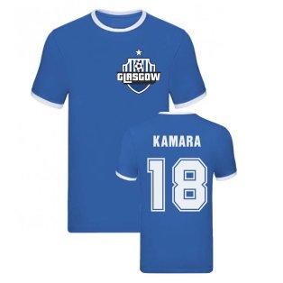 Glen Kamara Rangers Ringer Tee (Blue)