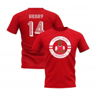 Thierry Henry Illustration T-Shirt (Red)