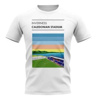 Caledonian Stadium Inverness Stadium T-Shirt (White)