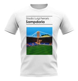 Stadio Luigi Ferraris Sampdoria Stadium T-Shirt (White)