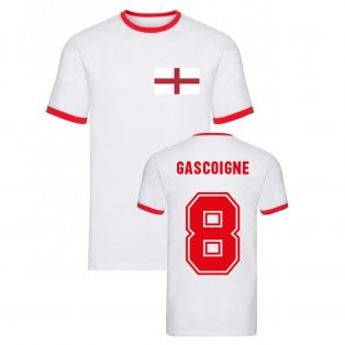 Paul Gascoigne England Ringer Tee (White)