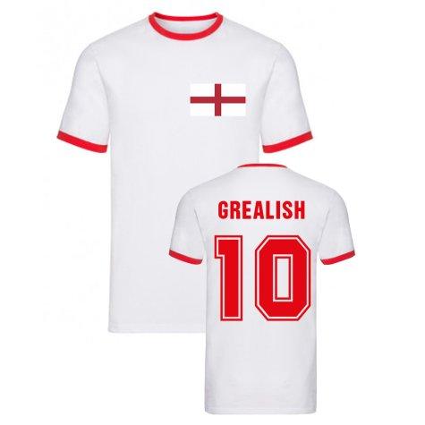 Jack Grealish England Ringer Tee (White)