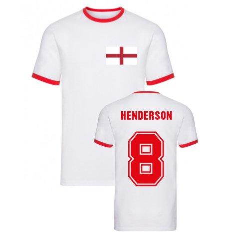 Jordan Henderson England Ringer Tee (White)