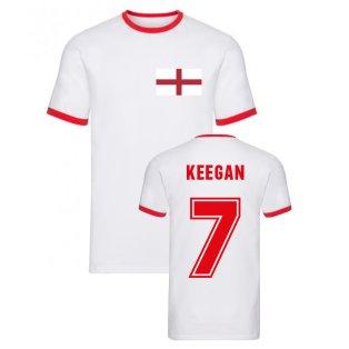 Kevin Keegan England Ringer Tee (White)