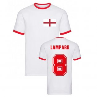 Frank Lampard England Ringer Tee (White)