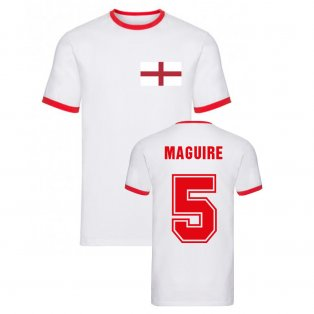 Harry Maguire England Ringer Tee (White)
